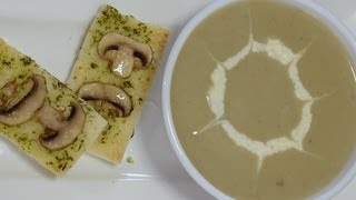 Cream Of Fresh Mushroom Soup - By Vahchef @ Vahrehvah.com
