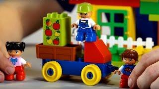 Поиграйка с Егором - Играем в конструктор lego duplo развивающее видео для детей малышей