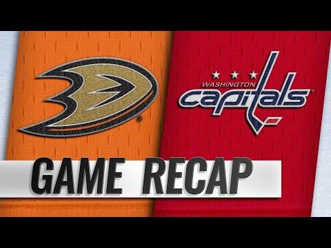 Aberg, Ducks rally for 6-5 win to snap Caps' streak