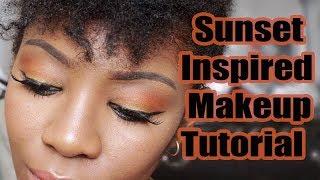 Sunset Makeup Tutorial + FroHawk On Natural Hair