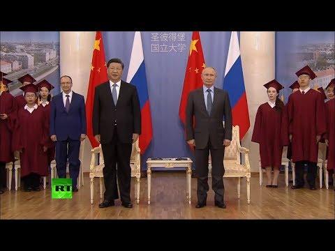 Симфонический оркестр Санкт-Петербурга. Гимн Росcии. Гимн Китая