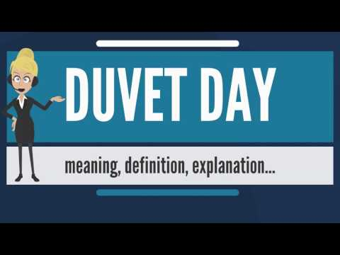 What is DUVET DAY? What does DUVET DAY mean? DUVET DAY meaning, definition & explanation