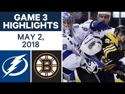 NHL Highlights | Lightning vs. Bruins, Game 3 - May. 02, 2018