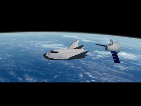 Dream Chaser Visits the ISS animation