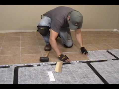 Heated Floor Tile Installation Youtube