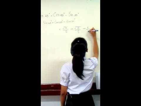 การหาค่าอัตราส่วนตรีโกณมิติ ม.5/2 กลุ่ม7