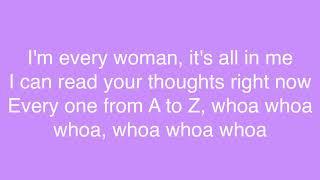 MUSIC 🎶    Whitney Houston - I'm Every Woman Lyrics