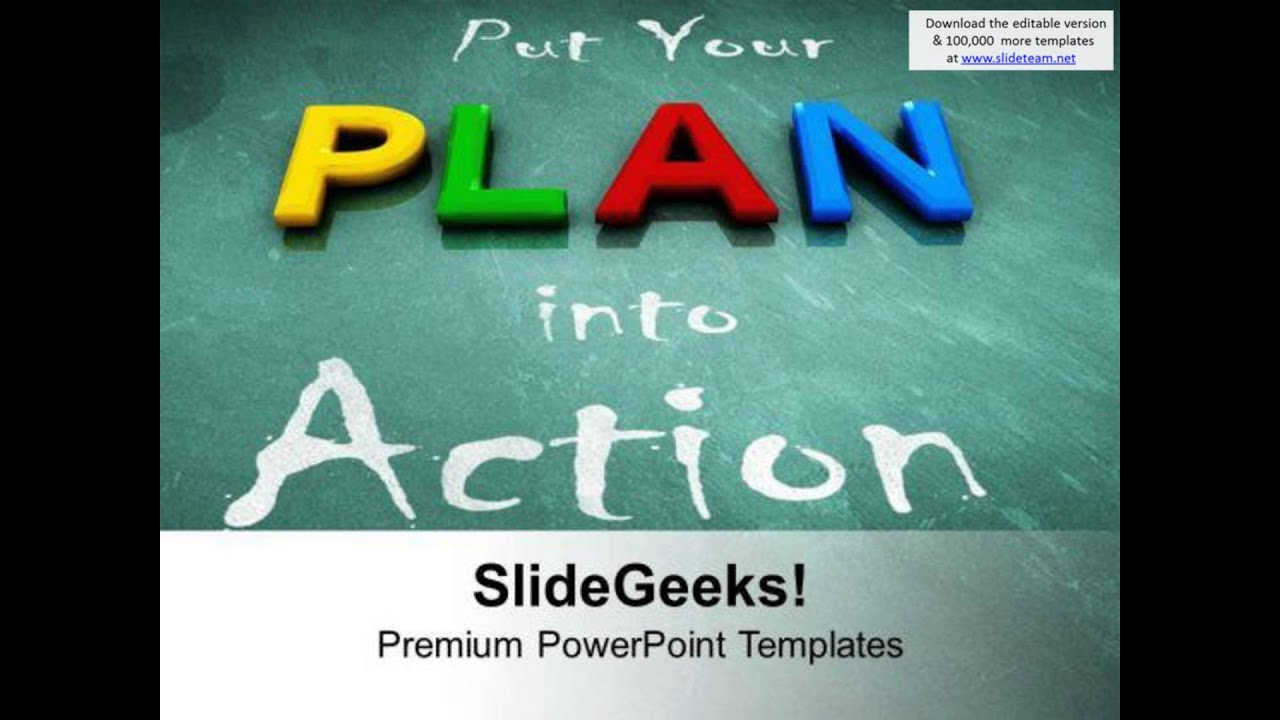Put Your Plan Into Action Business Development Powerpoint