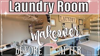 NEW LAUNDRY ROOM MAKEOVER :: CLEAN & ORGANIZE WITH ME 2019 :: AFFORDABLE LAUNDRY ORGANIZATION IDEAS
