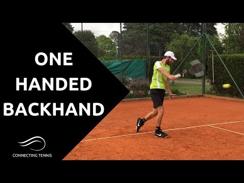 One Handed Backhand - Professional Backhand Tips | Connecting Tennis