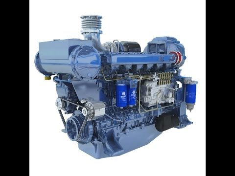 Motor Marino WEICHAI, SERIE WP13C, 500 hp