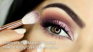 Beginners Eye Makeup Tutorial | Soft Glam | How To Apply Cream Eyeshadow