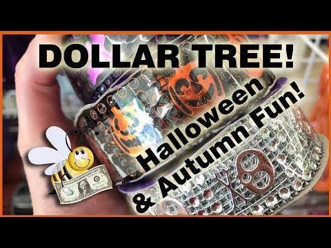Shop with Me! Dollar Tree Halloween Items NEW Diamond wrap & Felt stickers  August 1