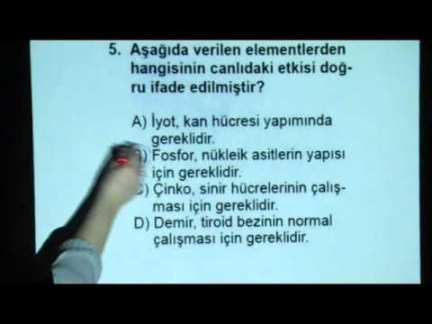 Biyoloji-1 Açık Lise Sınavı 21 Ocak 2012 - Soru 5 www.bkegitim.com