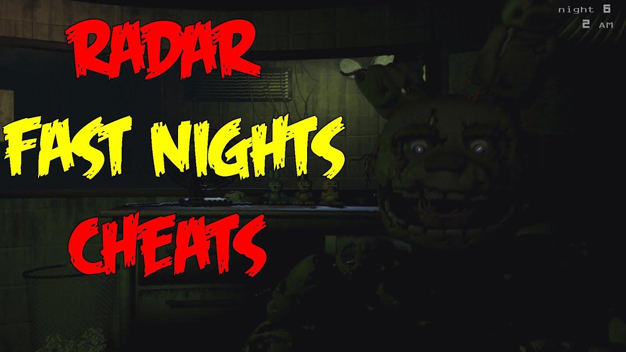 RADAR AND FAST NIGHTS CHEATS!-Five Nights At Freddy's 3 Extra Menu Cheats  (Nightmare/Night 6)