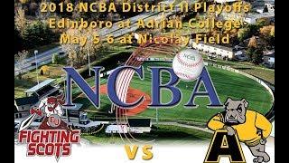 5/05/2018 NCBA District II Playoffs: Edinboro University vs. Adrian College (Game One) thumbnail
