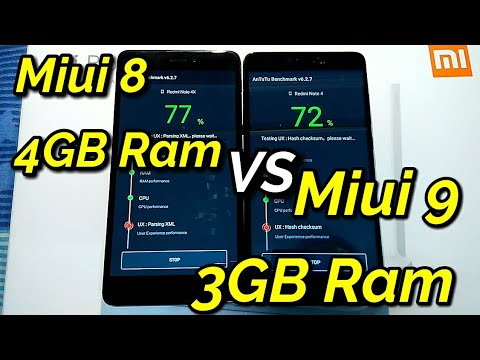 Miui 8 VS Miui 9 | Speed Test 4GB Ram VS 3GB Ram | Redmi Note 4 | Hindi -  हिंदी