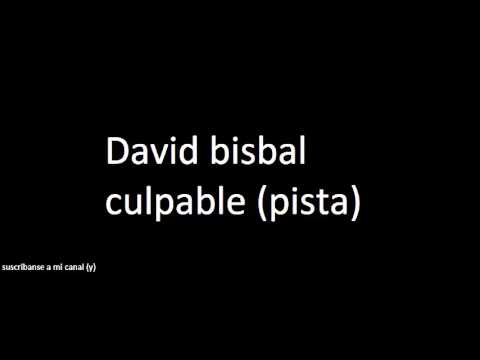 David Bisbal-Culpable (Pista-karaoke)