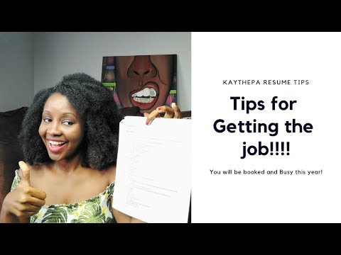 Tips For A Winning Resume To Get That Hospital Job Part 1
