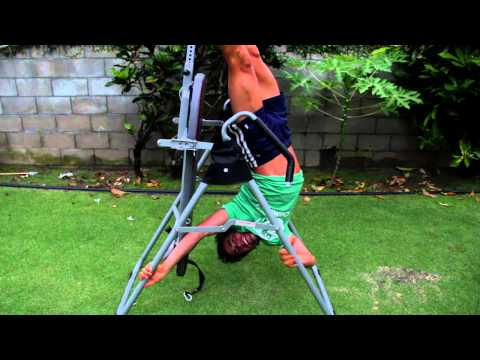 Hangin upside down in Hawaii. The benefits of an Inversion table