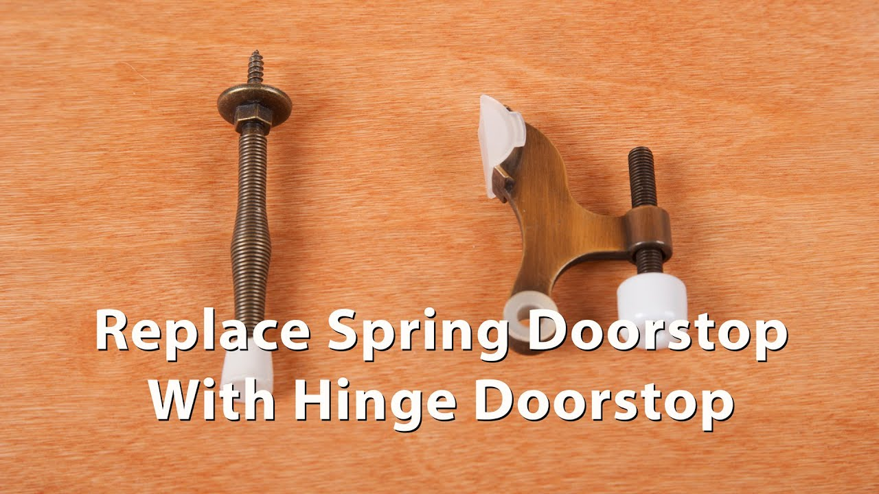 How To Replace A Spring Doorstop With A Hinge Pin Doorstop   DiTuro  Productions   YouTube
