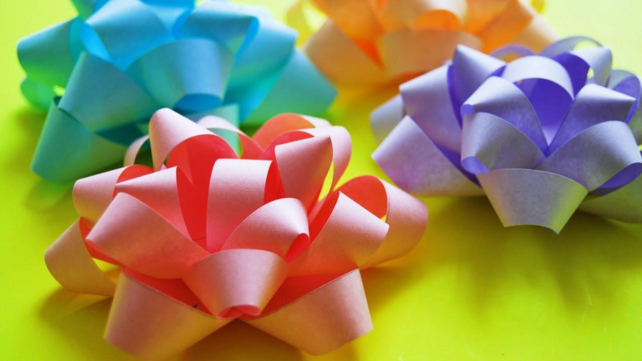 Цветы из бумаги своими руками подарочные