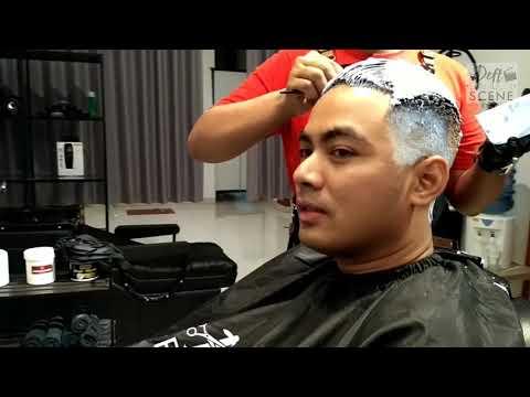 Guntur triyoga ganti gaya dan warna rambut!!! ( DEFT BARBER SCENE ) || BARBERSHOP || BARBER INDO