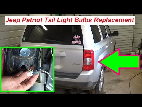 Jeep Patriot Tail Light Replacement  Tail Light Bulbs Replacement Brake Light Turn Signal