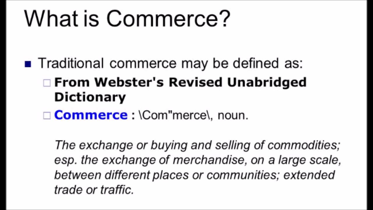 What is commerce 63