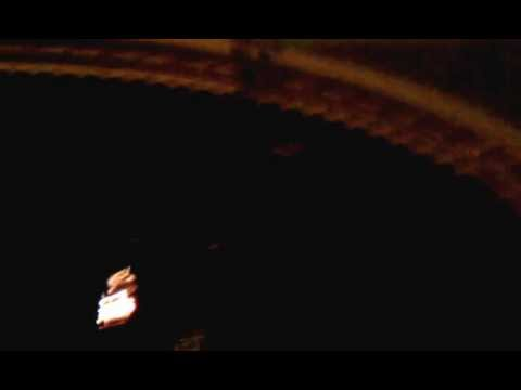 "This video was taken by Jeffrey Schreider at the Palace Theater Friday of a light that caught fire during a screening of Warren Miller's ""Flow State."" The theater was evacuated and no injuries were reported."