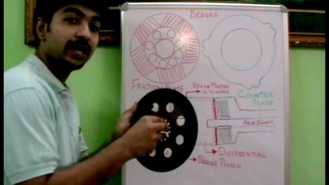How Oil Immerser Rear Axle Brake Works Youtube Jcb 214 Loader Backhoe Wiring Diagram