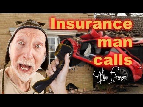Alan Farmer gets a call from the car insurance man