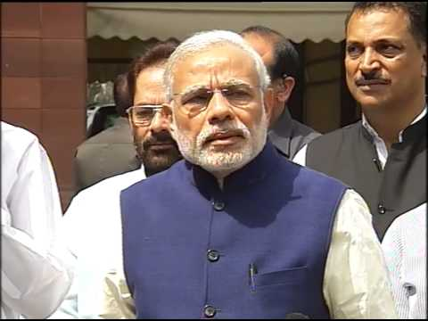 PM Modi speaks to the media on the 1st day of second part of budget session