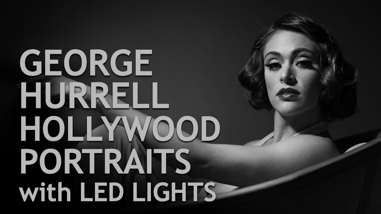 George Hurrell Hollywood Lighting with LED Lights - YouTube