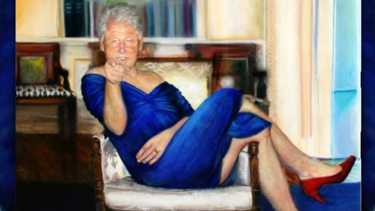 Here's the Story Behind That Bizarre Painting of Bill Clinton in a Blue Dress Seen at Jeffrey Epstein's Home
