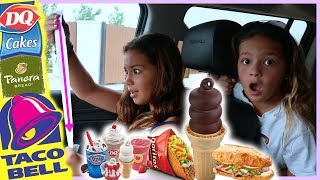 """LETTING THE PERSON in FRONT of US DECIDE WHAT WE EAT FOR 24 HOURS """" PART #2 """"  SISTER FOREVER"""