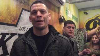 Nick Diaz and Nate Diaz Smoking A $2000 Dollar Blunt - ESNEWS
