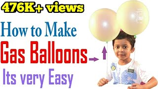 How to Make Gas Balloons at Home  Flying Balloons Must Watch