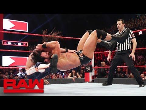 Seth Rollins vs. Drew McIntyre: Raw, March 18, 2019
