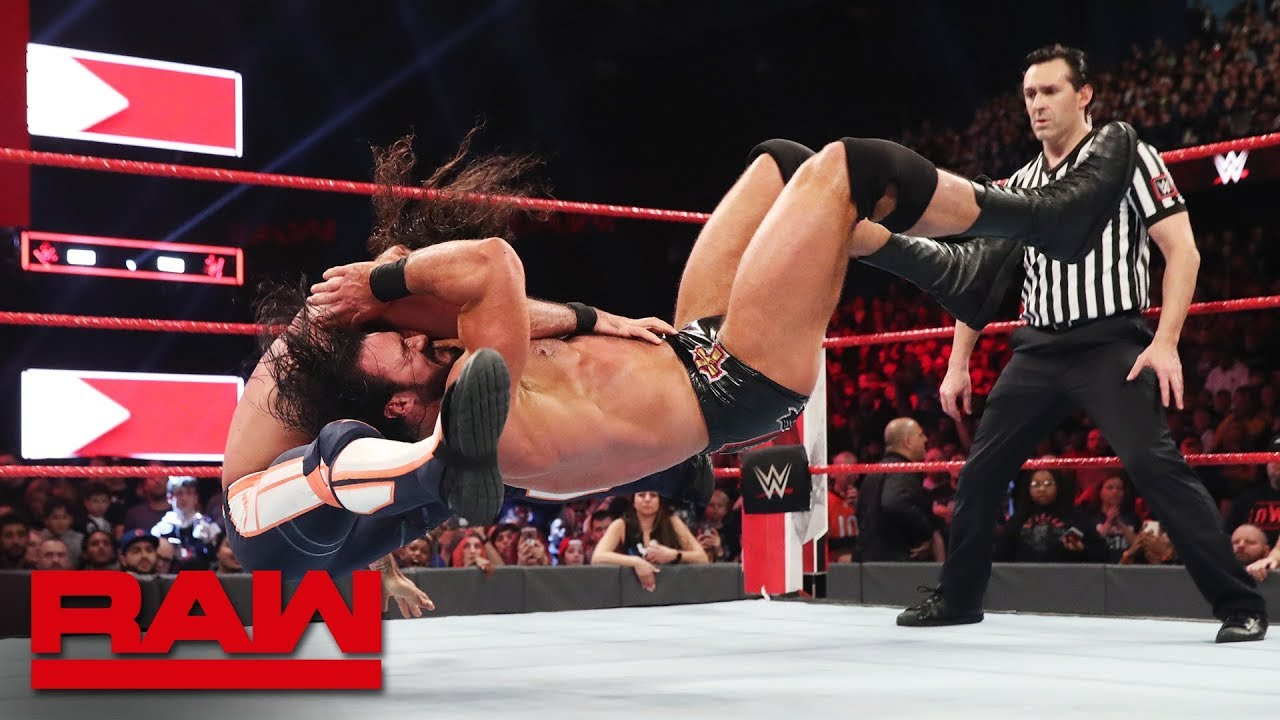 Seth Rollins vs. Drew McIntyre: Raw, March 18, 2019