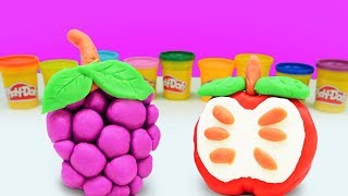 Play Doh oyun hamurundan meyveler. Eğlenceli video
