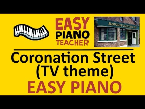 How to play Coronation Street (TV theme): EASY keyboard song! (Piano tutorial with note names) #EPT
