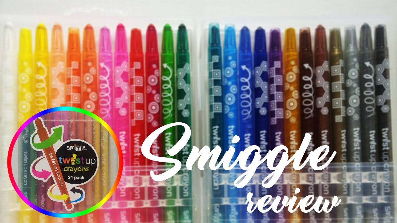 Cool Crayons Smiggle Twist Up Crayon Review Youtube