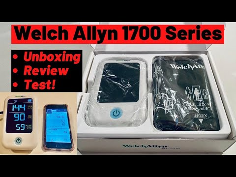 welch-allyn-home-1700-series-blood-pressure-monitor-review---unboxing-setup-&-blood-pressure-test