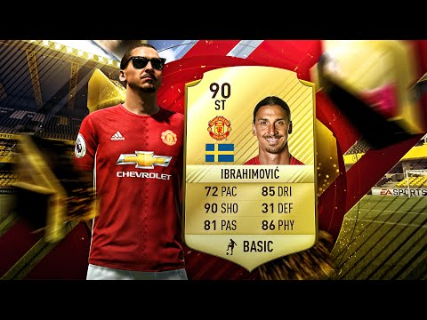 INCREDIBLE ZLATAN IBRAHIMOVIC FIFA 17 MANCHESTER UNITED VS PSG SQUAD RATINGS! FIFA 17 DEMO GAMEPLAY