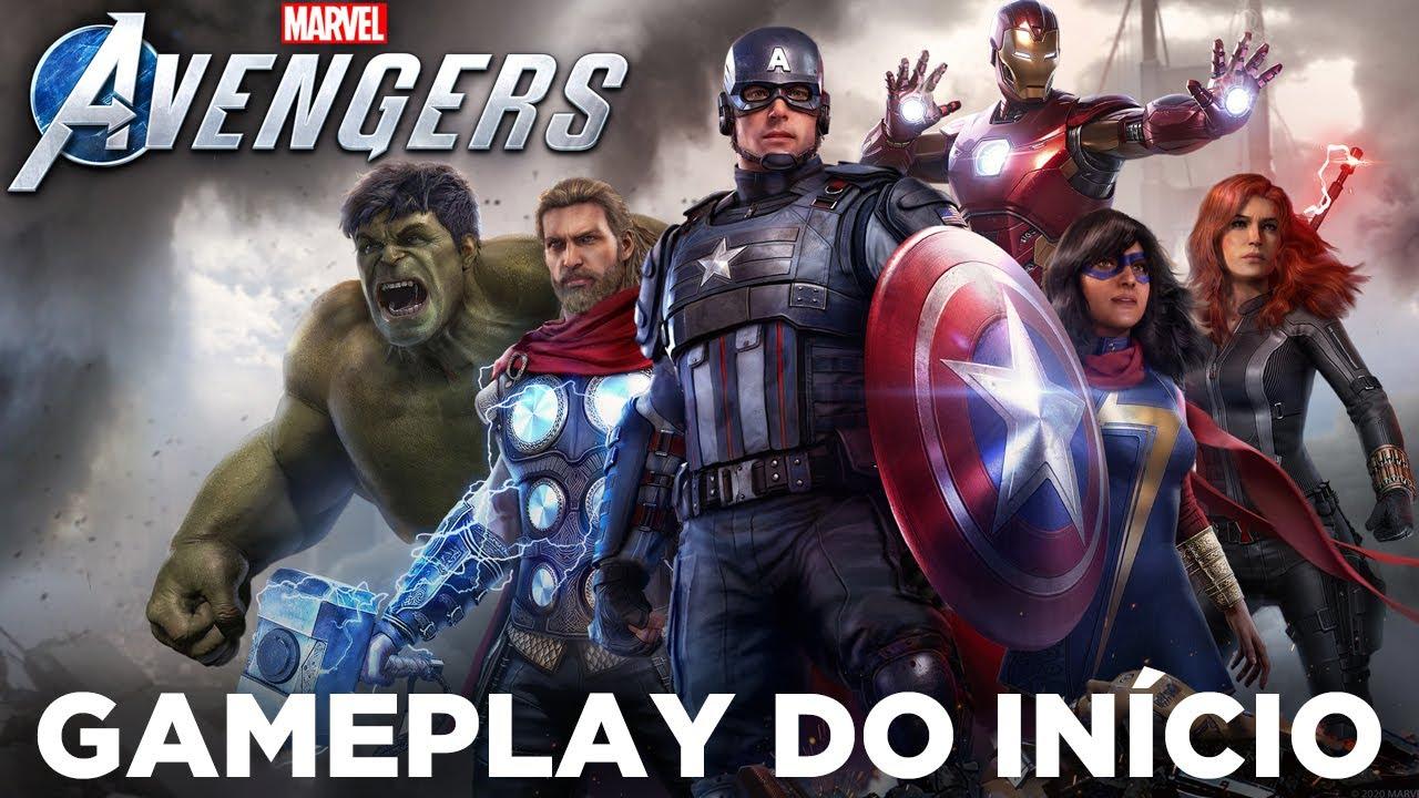 Marvel's AVENGERS - O INÍCIO DO GAMEPLAY NO PS4 PRO