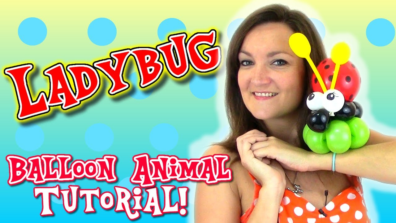 Easy ladybug balloon animal tutorial with holly the twister sister youtube