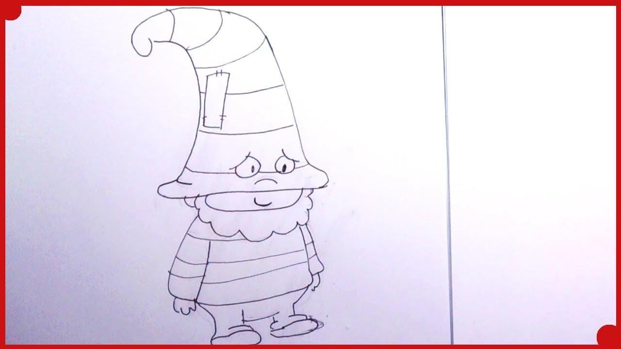 Como dibujar a Timido de los 7E muy facil, para colorear - YouTube