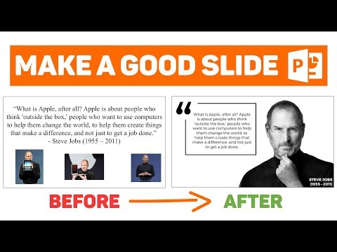 [PowerPoint Tutorial] Design a Good Slide - Episode 2 - Quote (ft. Steve Jobs)