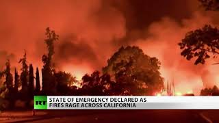California Fires Double in Size, State of Emergency Declared
